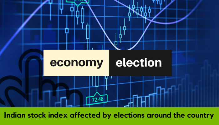 Indian stock index affected by elections around country